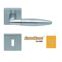 Scoop 1007 Optima SB polírozott inox-matt inox kilincsgarnitúra inox négyzetrozettával