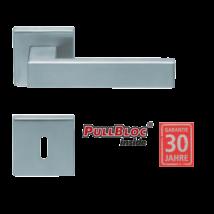 Scoop 1005 Quadra PB inox négyzetrozettás kilincsgarnitúra