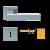 Scoop 1005 Quadra SB inox négyzetrozettás kilincsgarnitúra