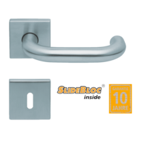 Scoop 1104 Rondo SB inox négyzetrozettás kilincsgarnitúra