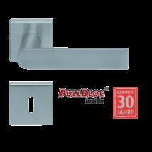 Scoop 1008 Semi PB inox négyzetrozettás kilincsgarnitúra