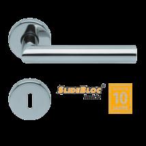 Scoop 1106 Thema polírozott inox kilincsgarnitúra SlideBloc mechanikával