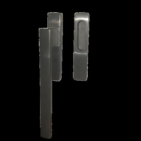 Maestro Q-arte PVD szatén fekete emelő-toló ajtókilincs