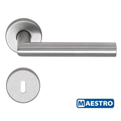 Maestro Thema Pro rozsdamentes acél körrozettás kilincsgarnitúra