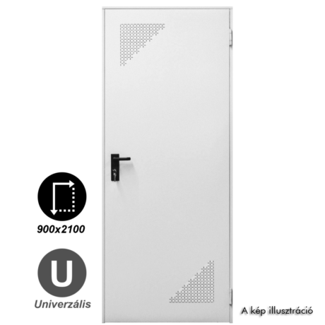 NINZ Rever Multifunkciós papírrácsbetétes acélajtó alul-felül perforált szellőzővel