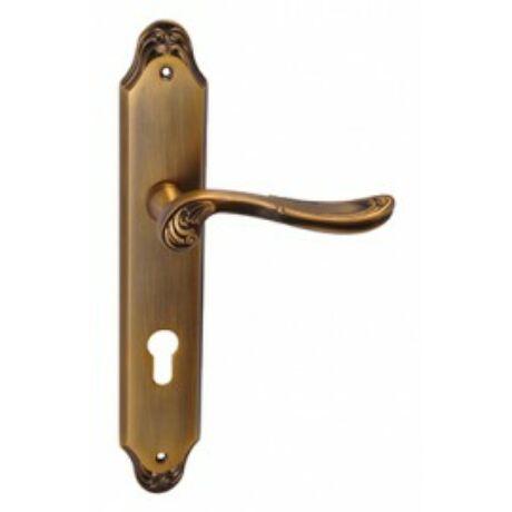 Maestro Castello súrolt bronz hosszúcímes kilincsgarnitúra