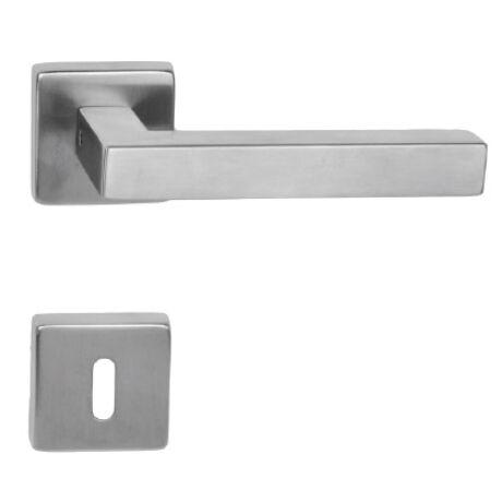 Maestro Cubic rozsdamentes acél négyzetrozettás kilincsgarnitúra