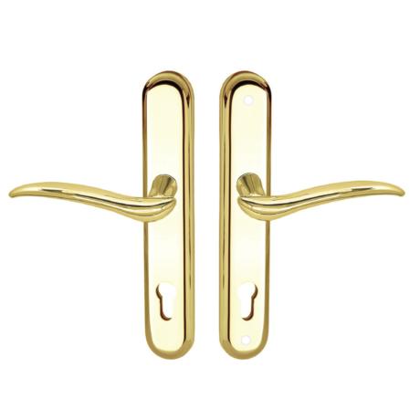 Maestro Kyra Universal biztonsági bejárati ajtó kilincsgarnitúra réz