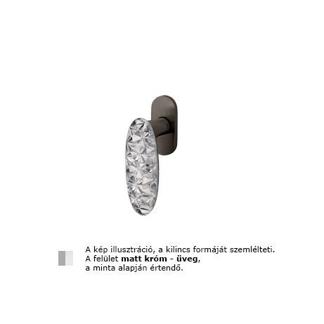 Olivari Crystal Diamond matt króm - üveg ablakfélkilincs