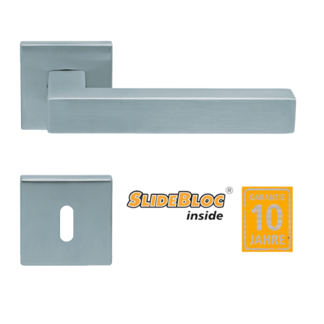 Scoop 1002 inox kilincsgarnitúra SlideBloc mechanikával