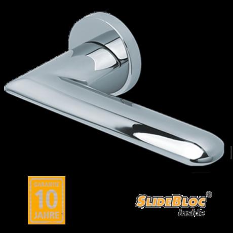 Scoop 1021 polírozott inox kilincsgarnitúra SlideBloc mechanikával