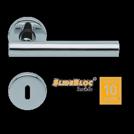Scoop 1074 Roxy polírozott inox kilincsgarnitúra SlideBloc mechanikával