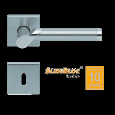 Scoop 1765 Fina inox kilincsgarnitúra SlideBloc mechanikával
