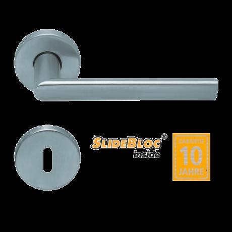 Scoop 1009 Jade II inox kilincsgarnitúra SlideBloc mechanikával