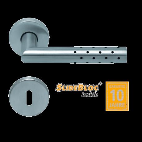 Scoop 1006 Lup inox kilincsgarnitúra SlideBloc mechanikával
