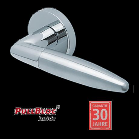 Scoop 1007 polírozott inox kilincsgarnitúra PullBloc mechanikával