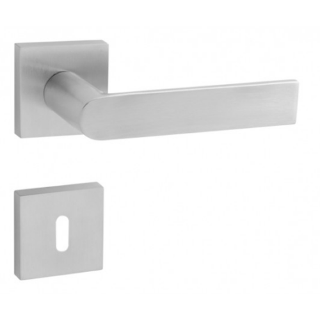 Tupai Semi rozsdamentes acél négyzetrozettás kilincsgarnitúra HR 3990Q