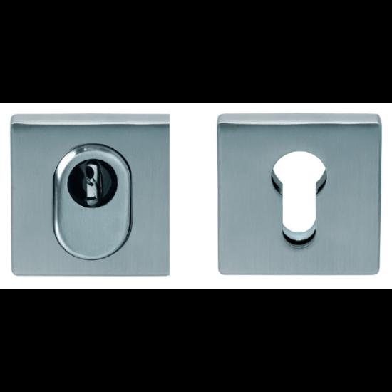 Scoop inox cilindervédős biztonsági négyzetrozetta