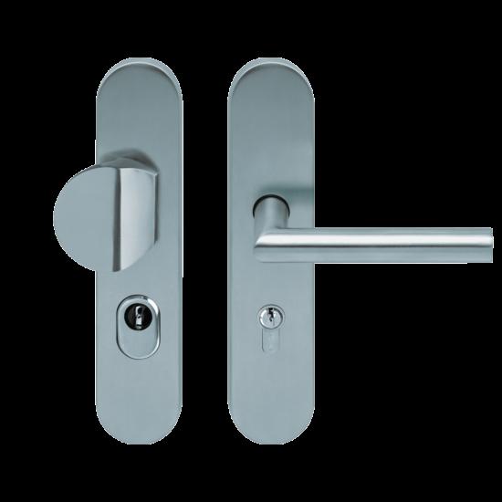 Scoop bejárati biztonsági gomb-kilincs garnitúra