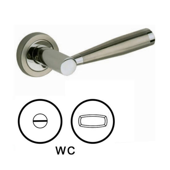 Lienbacher Dario körrozettás kilincsgarnitúra WC alsórozettával