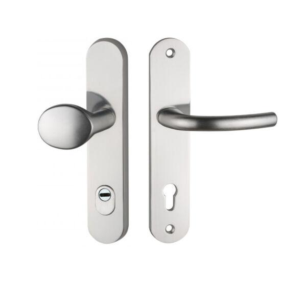 Maestro Arno alu biztonsági bejárati ajtó gomb-kilincsgarnitúra cilindervédős