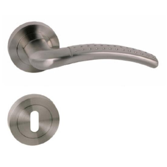 Maestro Pallas szatén nikkel (alumínium) körrozettás kilincsgarnitúra