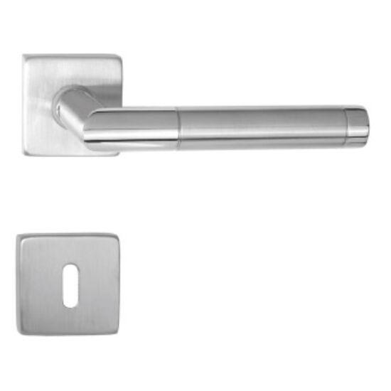 Maestro Panama króm - rozsdamentes acél négyzetrozettás kilincsgarnitúra