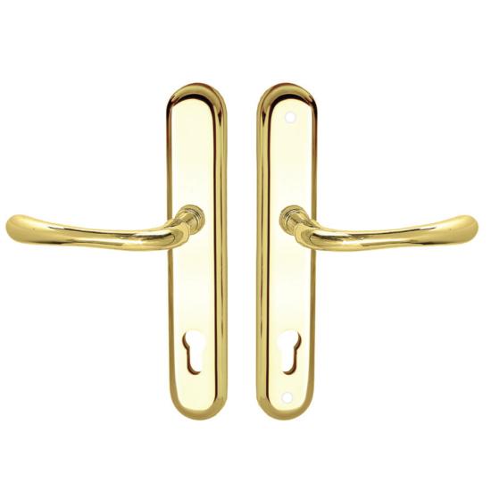 Maestro Inca Universal biztonsági bejárati ajtó kilincsgarnitúra réz