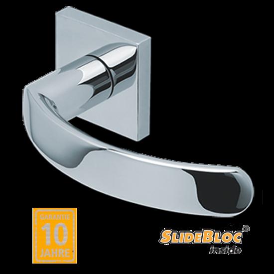 Scoop 1023 polírozott inox kilincsgarnitúra SlideBloc mechanikával