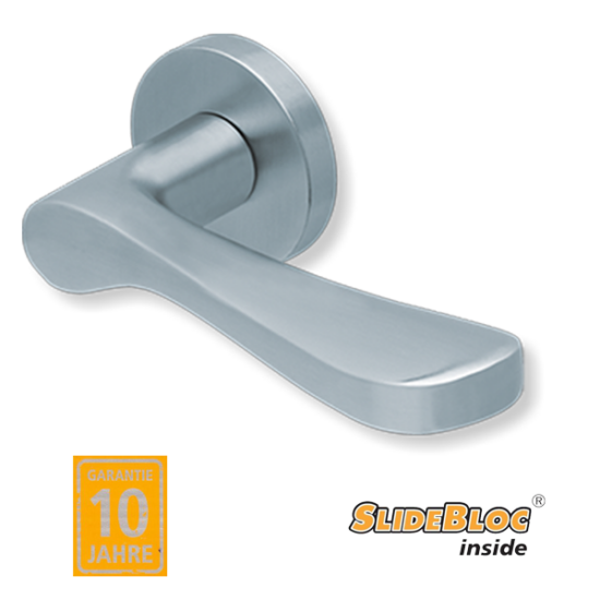 Scoop 1024 inox kilincsgarnitúra SlideBloc mechanikával