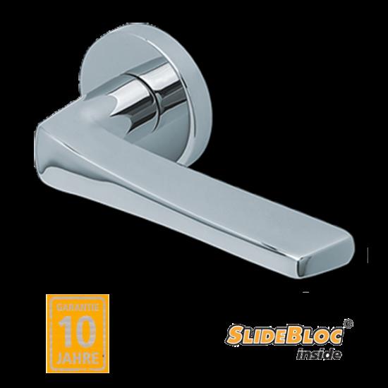 Scoop 1026 polírozott inox kilincsgarnitúra SlideBloc mechanikával