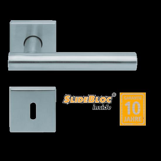 Scoop 1074 Roxy inox kilincsgarnitúra SlideBloc mechanikával