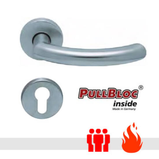 Scoop 1085 PullBloc tűzgátló körrozettás kilincsgarnitúra