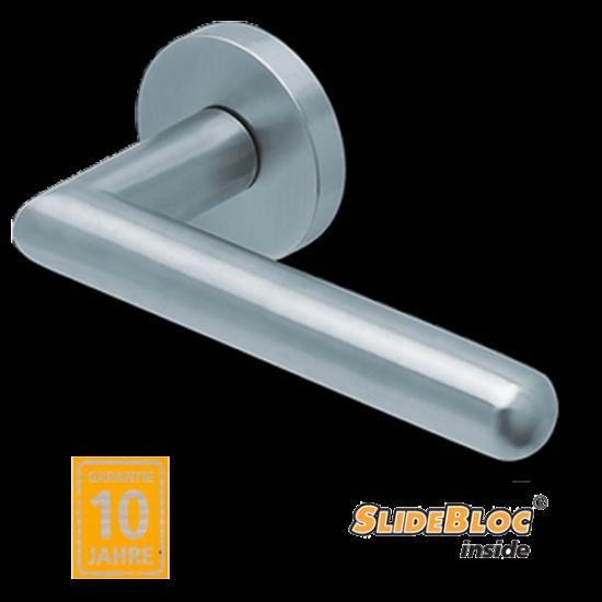 Scoop 1107 inox kilincsgarnitúra SlideBloc mechanikával