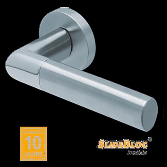 Scoop 1212 inox kilincsgarnitúra SlideBloc mechanikával