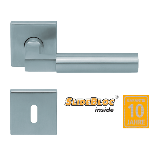 Scoop 1016 inox kilincsgarnitúra SlideBloc mechanikával