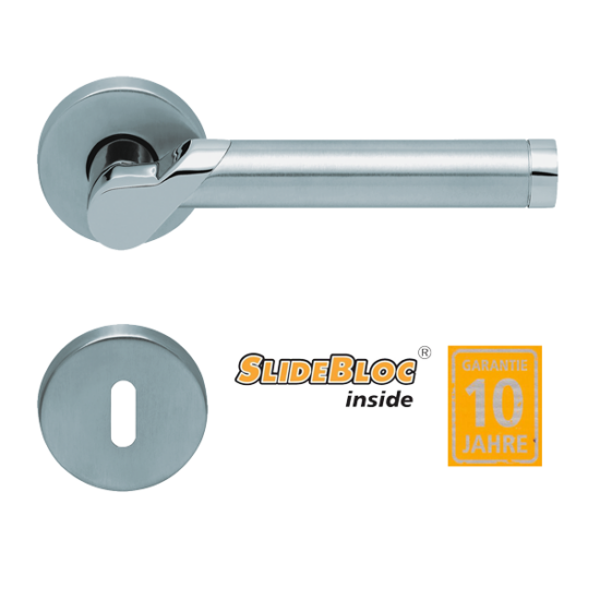 Scoop 1765 Fina inox kilincsgarnitúra SlideBloc mechanikával