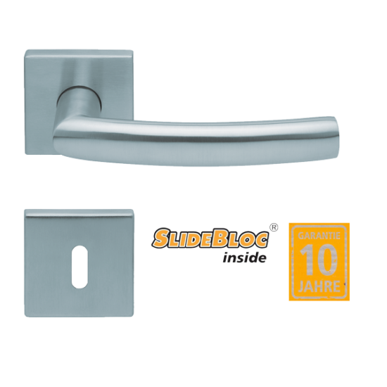 Scoop 1003 Geo inox kilincsgarnitúra SlideBloc mechanikával