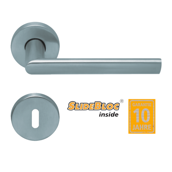 Scoop 1009 Jade II inox kilincsgarnitúra SlideBloc mechanikával