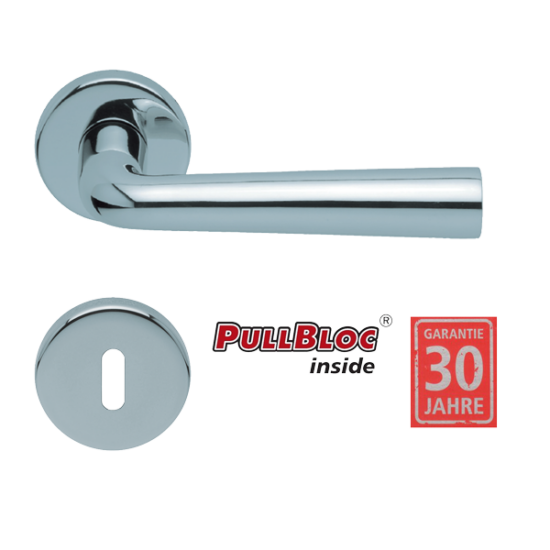 Scoop 1004 Jericho polírozott inox kilincsgarnitúra PullBloc mechanikával