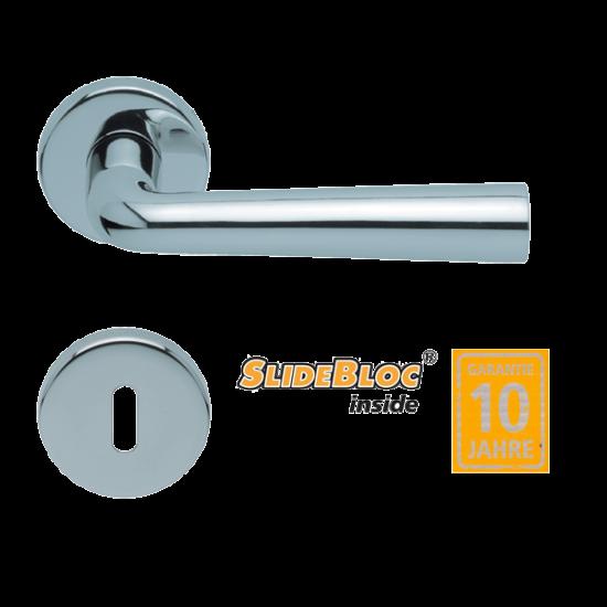 Scoop 1004 Jericho polírozott inox kilincsgarnitúra SlideBloc mechanikával