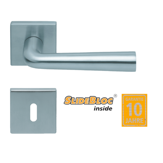 Scoop 1004 Jericho inox kilincsgarnitúra SlideBloc mechanikával