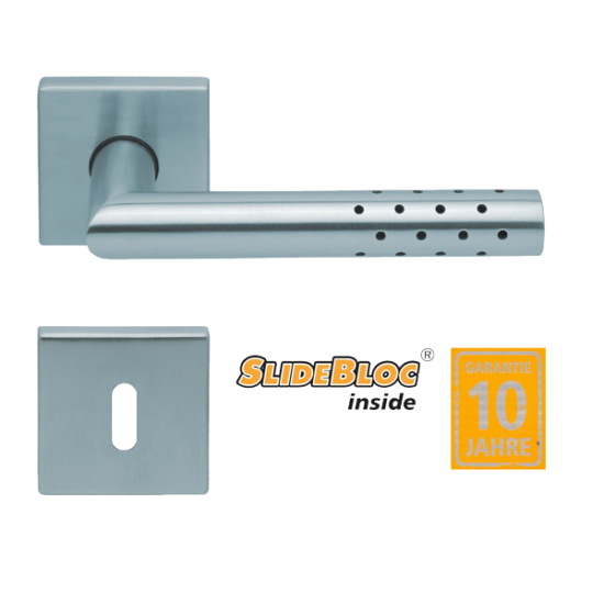 Scoop 1006 Lup inox kilincsgarnitúra SlideBloc mechanikával