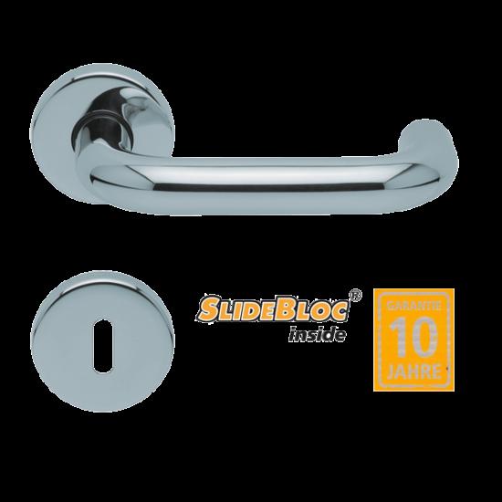 Scoop 1104 Rondo polírozott inox kilincsgarnitúra SlideBloc mechanikával