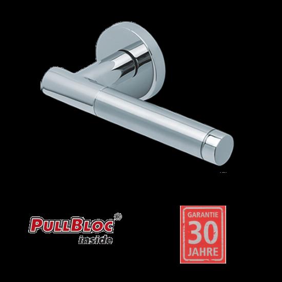 Scoop 1275 Roxy II PB polírozott inox körrozettás kilincsgarnitúra