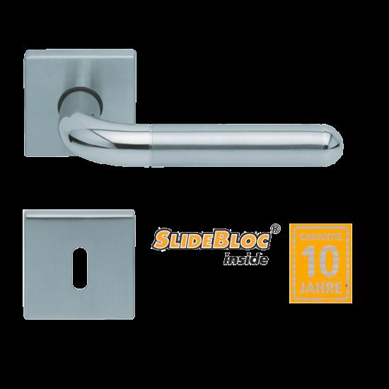 Scoop 1173 inox kilincsgarnitúra SlideBloc mechanikával