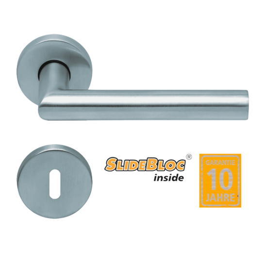 Scoop 1106 Thema inox kilincsgarnitúra SlideBloc mechanikával
