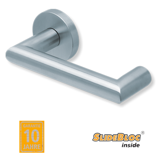 Scoop 1009 Thema U inox kilincsgarnitúra SlideBloc mechanikával