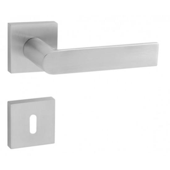 Tupai Semi rozsdamentes acél négyzetrozettás kilincsgarnitúra
